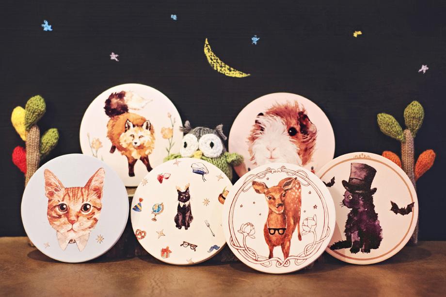 13 atelier hanu 小动物圆滚滚杯垫组